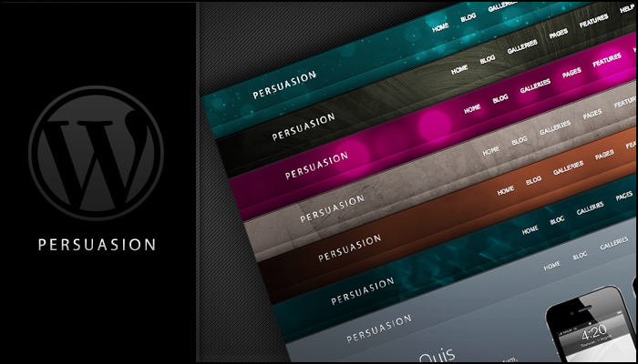 Persuasion Wordpress Theme